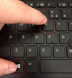 دکمه های Windows و R