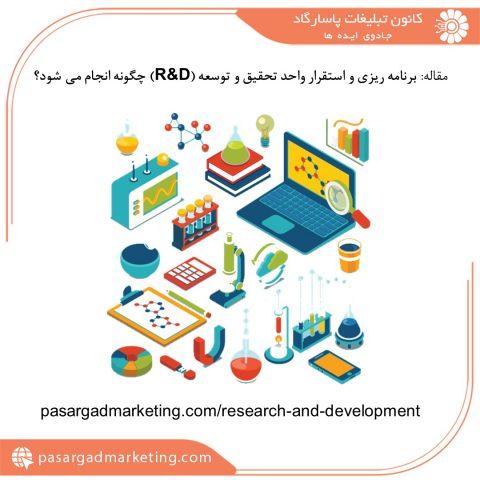 برنامه ریزی و استقرار واحد تحقیق و توسعه (R&D) چگونه انجام می شود؟